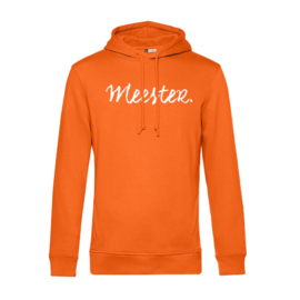 Oranje MEESTER. Hoodie Krijt