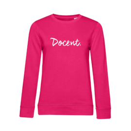 Fuchsia DOCENT. Dames Sweater Krijt