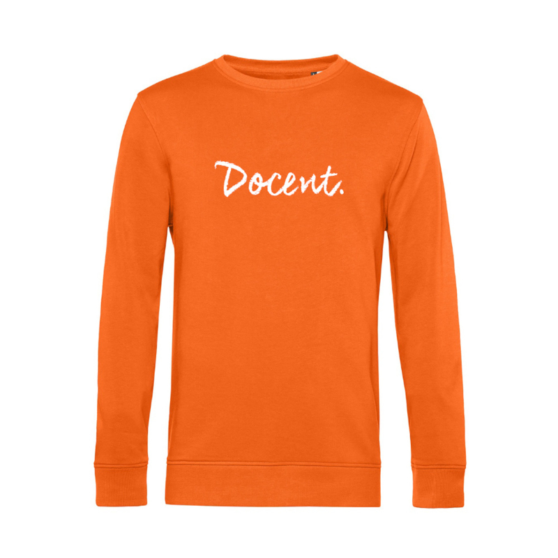 Oranje DOCENT. Heren Sweater Krijt