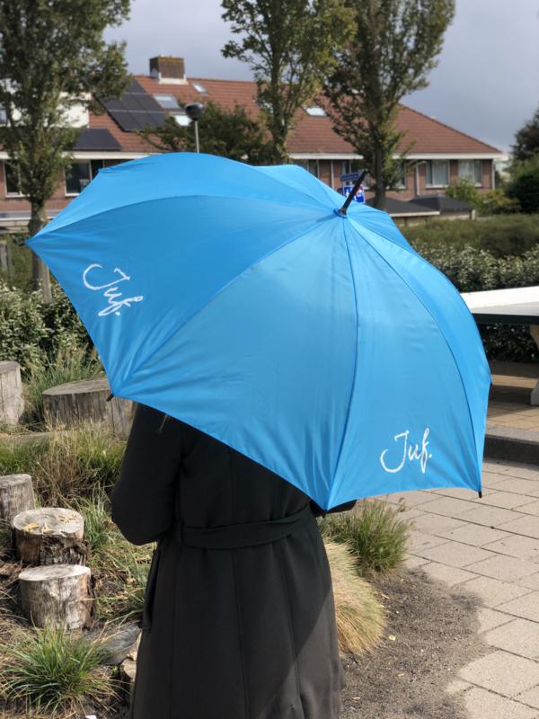 Lichtblauw JUF. Paraplu Krijt