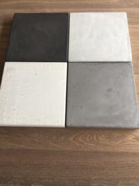 Eettafel beton look