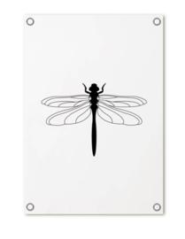 Tuinposter 'Met libelle'