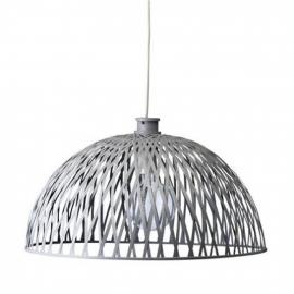 Rotan hanglamp grey