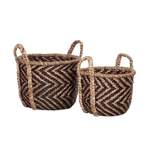 Basket round XL set of 2