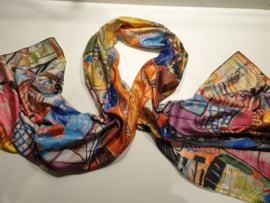 Kunst sjaal 2 prints