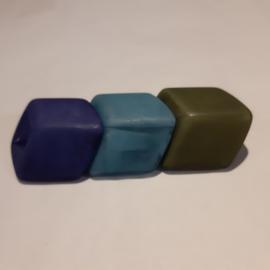 Cube combinatie, kobalt, blauw, olijfgroen
