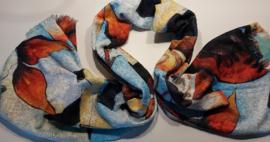 Sjaal kubistisch schilderij