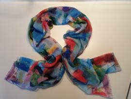 Zijde/viscose sjaal