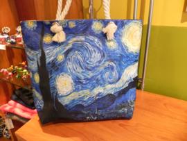 Strandtas met print Van Gogh Sterrennacht