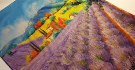 Sjaal lavendel landschap
