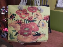 Strandtas met print Van Gogh Zonnebloemen