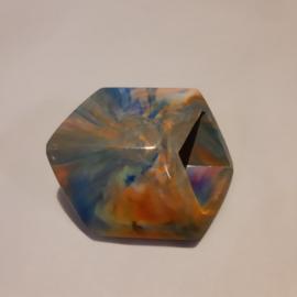 Cube los, gemêleerd blauw, zonnebloem en khaki