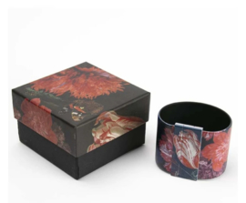 Art Bracelet De Heem Red Flowers, 50mm