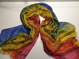 Zijden/viscose sjaal
