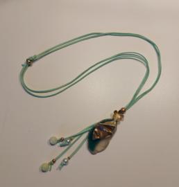 Lange ketting turquoise zeegroen