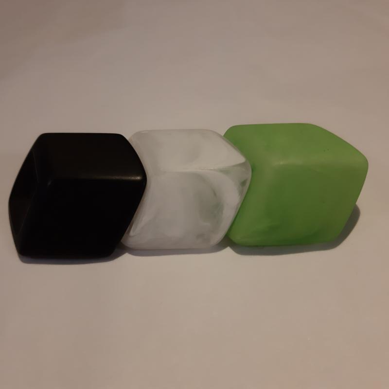 Cube combinatie, zwart - wit -groen