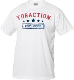YorACTION | T-Shirt | EST 2008 - Wit