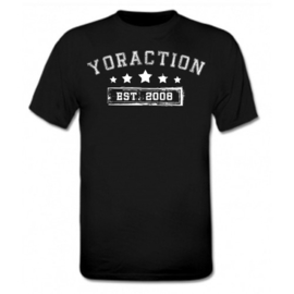 YorACTION | T-Shirt | EST 2008 - Zwart