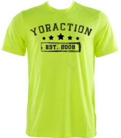 YorACTION | T-Shirt | EST 2008 - Geel