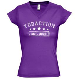 YorACTION | T-Shirt | EST 2008 - Paars
