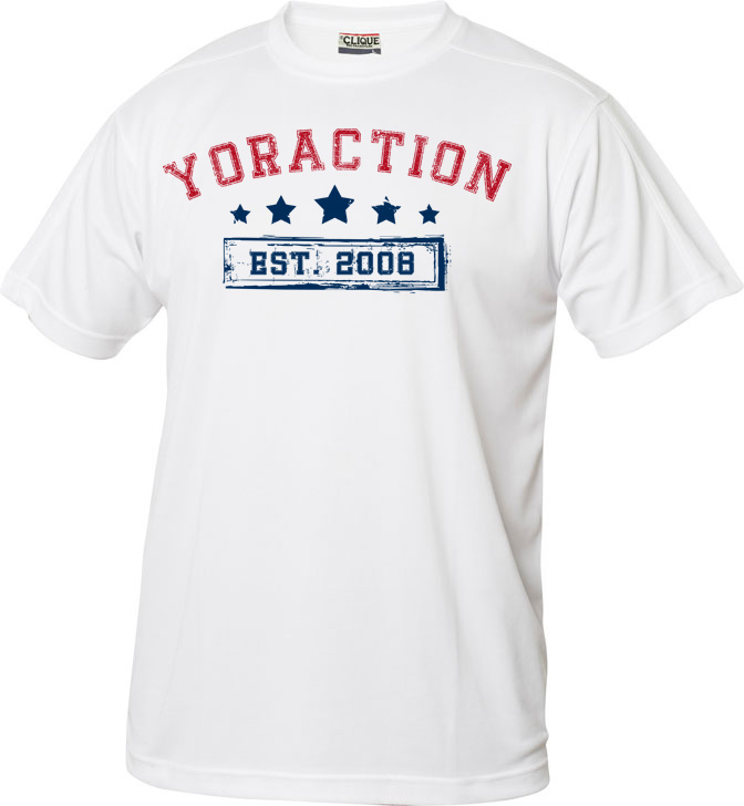 YorACTION | T-Shirt | EST 2008 - Wit