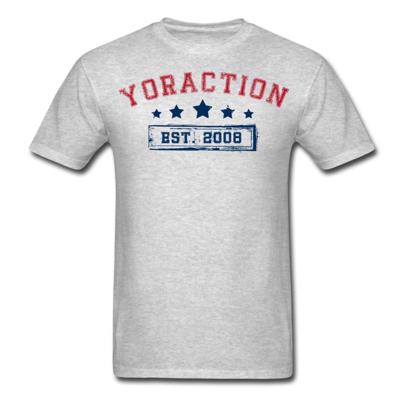 YorACTION | T-Shirt | EST 2008 - Grijs