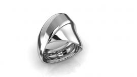 """Zilveren Ring """"Swung"""""""