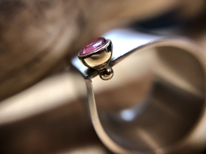 Rosé Toermalijn ring
