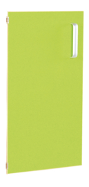 Deur voor smalle kast Flexi en kast M met scheidingswand links - groen