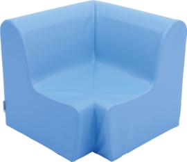 Hoge hoekbank 65,5cm  zithoogte 34cm - Lichtblauw