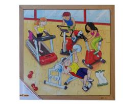 Puzzel sportschool