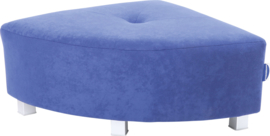 Flexi hoekbank, zithoogte 25 cm,  blauw