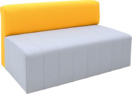Eigentijdse bank Plus, grijs/mosterd