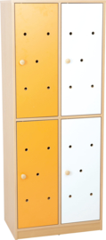 Deuren voor regenboog garderobe, wit - oranje, 4 stuks