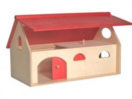 Boerderij met scharnierend dak