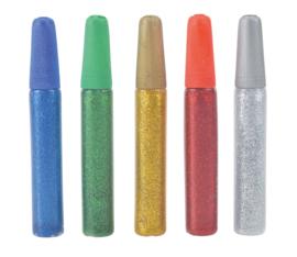 Gel glitter, 5 kleuren