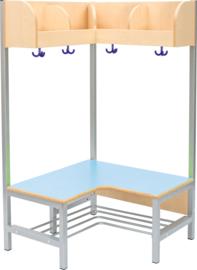 Flexi hoekgarderobe met frame 4, hoogte: 35 cm,  blauw