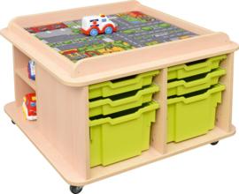 Vierkante tafel voor speelmat - hoog