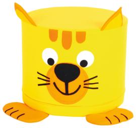 Foam dieren poef 30x35cm - kitten