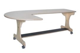 Hoogzit J-tafel 180 cm - berken