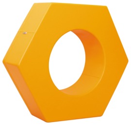 Foam zeshoek - oranje