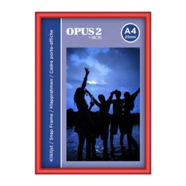 Kliklijst OPUS 2 A4 25mm rood