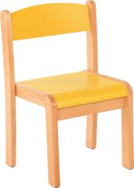 Maxime stoel met viltdoppen geel, maat 1-4