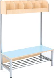 Flexi garderobe 5, zithoogte 35 cm - blauw