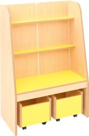 Flexi staande boekenkast - geel