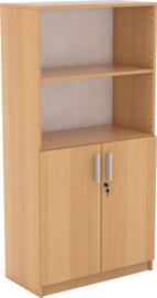Expo boekenkast met 2 open vakken - beuken