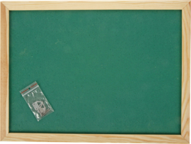 Prikbord 100 x 150 cm - groen