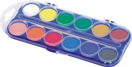 Waterverf 12 kleuren diam 3cm - Assorti