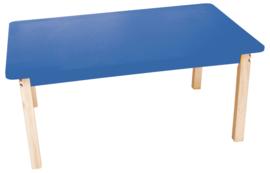 Rechthoekige kleurrijke tafelblad blauw