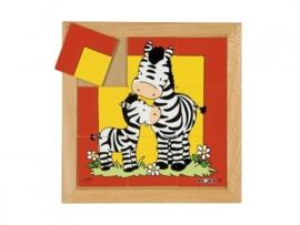 Puzzel zebra moeder/kind 9 dlg.